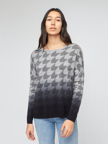 Dip Dye Houndstooth Sweater