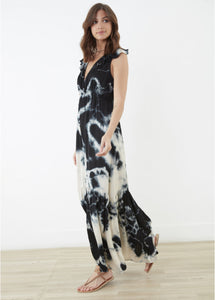Maxi Indigo Crossover Dress