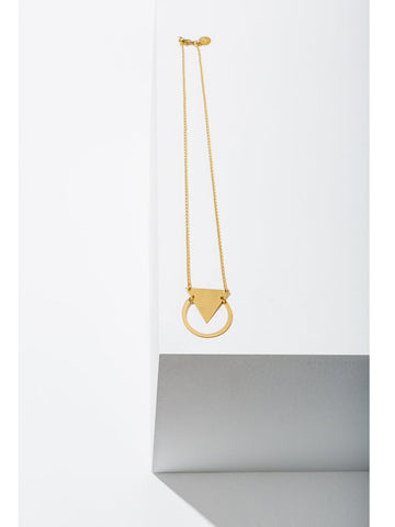 Triangle / Circle Brass Necklace