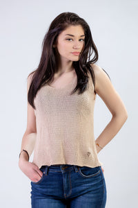 Cropped Knitted Tank Top
