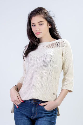 Lightweight Natural Knit Top