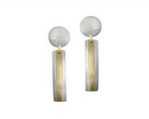 2-Tone Post Earrings