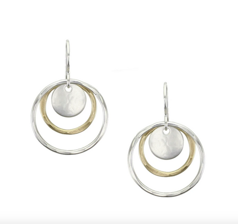Disc with Rings Earring
