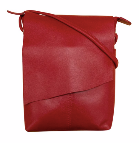 Leather Asymmetrical Flap Bag