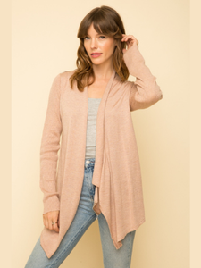 Rose Shoulder Zip Cardigan