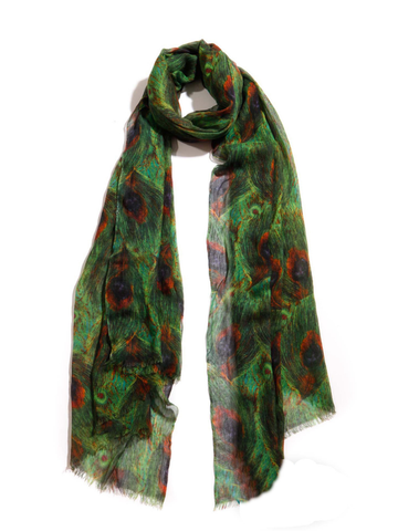 Green Peacock Scarf