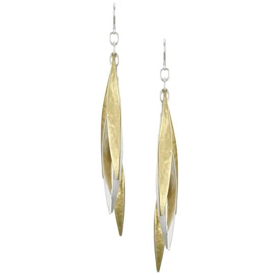Long Tiered Leaves Earring