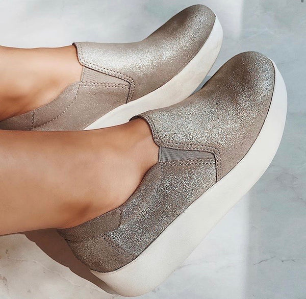 Camile Grey Silver Sneakers