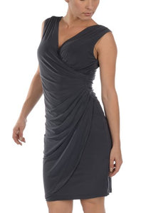 Criss-Cross V Neck Dress