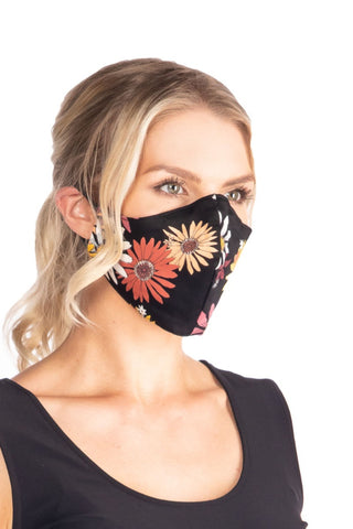 Floral Cotton Face Mask