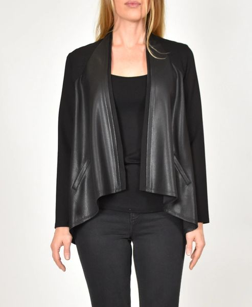Vegan Leather Zip Back Jacket
