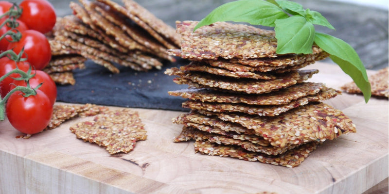Italian Flaxseed Crackers
