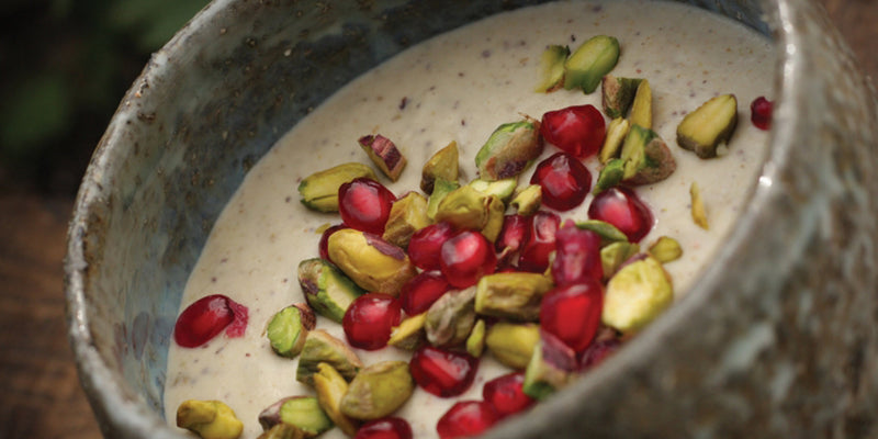 White Bean Puree With Pomegranate And Pistachio Nuts