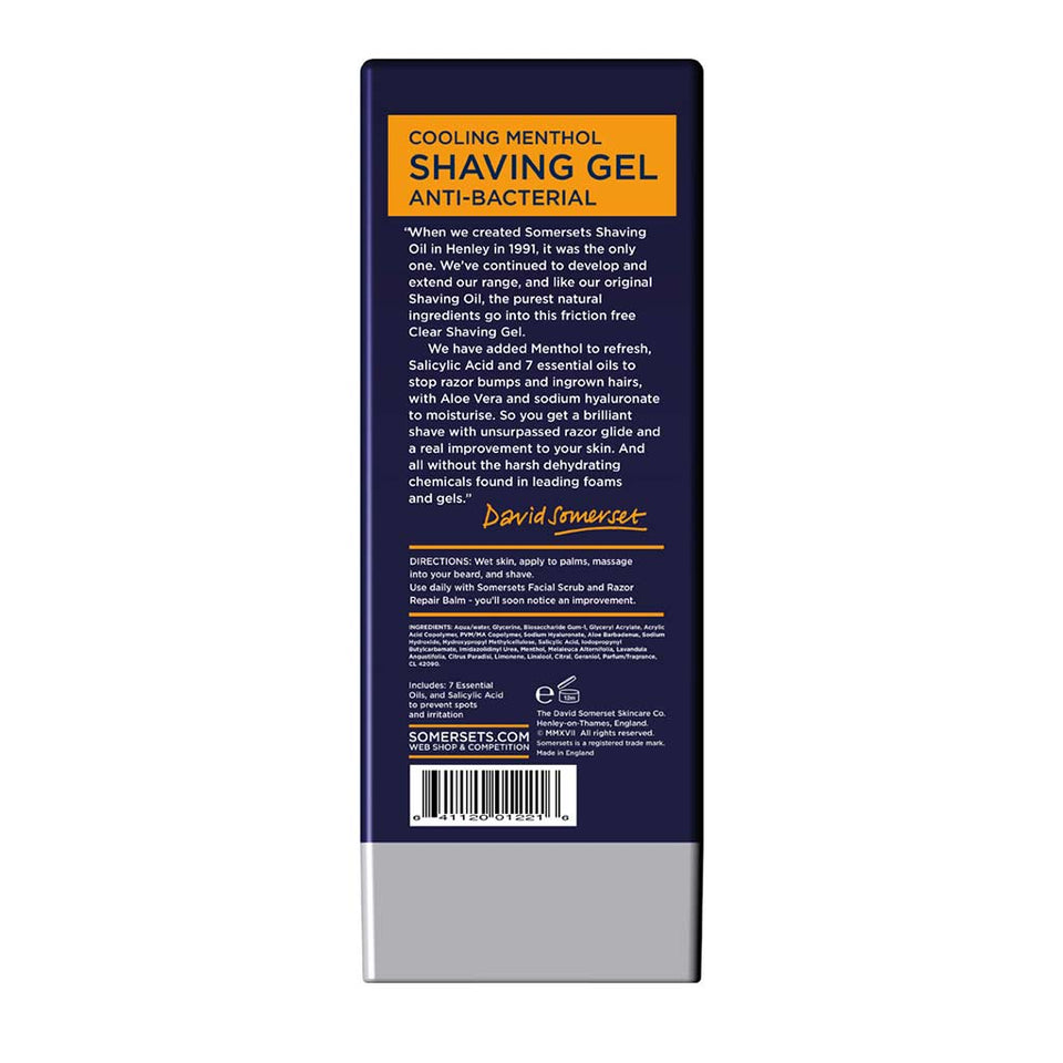 Somersets Anti-Bacterial Clear Shaving Gel