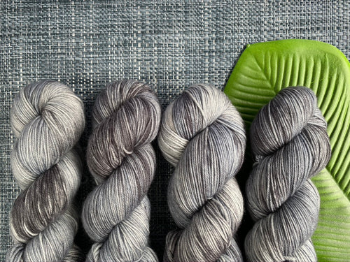 Delicious sock yarn 'Storm cloud' colourway