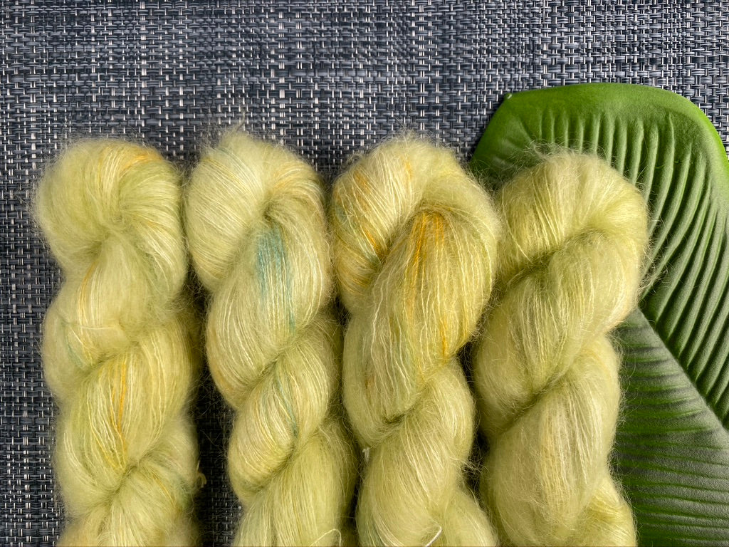 Dainty mohair silk yarn - 'New Leaf'