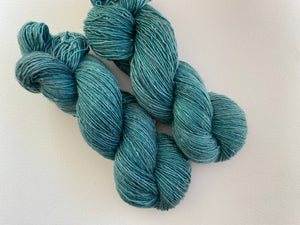Merino linen singles - 'Smaragd' colourway