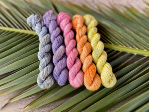 'Spring flower collection' Mini skein set - 5x20g sock yarn