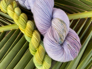 Delicious sock 'Hyacinth' colourway Spring flower collection