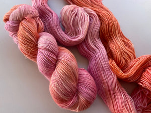 Merino linen singles - 'Sorbet' colourway