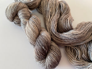 Merino linen singles - 'Cave' colourway