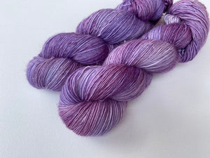 Merino linen singles - 'Crocus' colourway