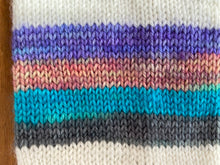 Load image into Gallery viewer, Self-striping sock yarn 'Cool by the pool' colourway