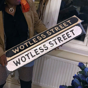 Giftware - Wooden Street Signs - Wotless Street