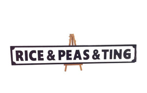 Giftware - Wooden Street Signs - Rice & Peas & Ting/Rice & Peas & Tings