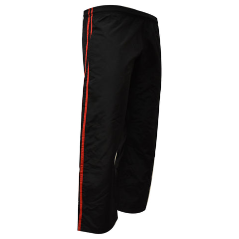 Demo Karate Pant Black With Red Stripe MMA Boxing Muay Thai Martial Arts