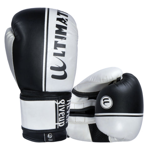 Ultimate Boxing Gloves White Black