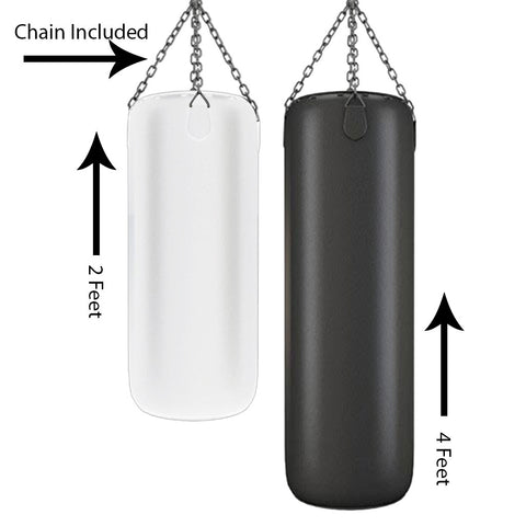 PUNCHING BAG 4FT & 2 Ft - Hanging Chain Included - Empty