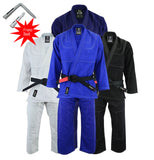 Essential Brazilian Jiu-Jitsu Kimono BJJ Gi Uniform Gi - Kids Adults Unisex (White Belt Included)