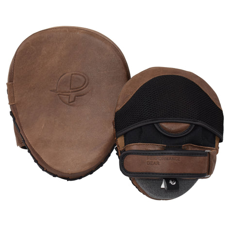Vintage Focus Pad Genuine Leather - Boxing MMA Muay Thai Training Targeting