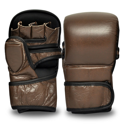 Vintage Series MMA Sparring Gloves - Genuine Leather
