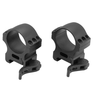 CCOP USA 30mm Picatinny-Style Heavy Duty QD Tactical Scope Rings Matte (6 Screws)
