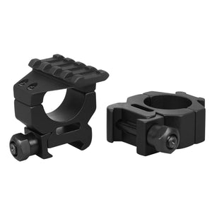 CCOP USA 1 Inch Picatinny-Style Tactical Scope Rings with Top Rail Matte (4 Screws)