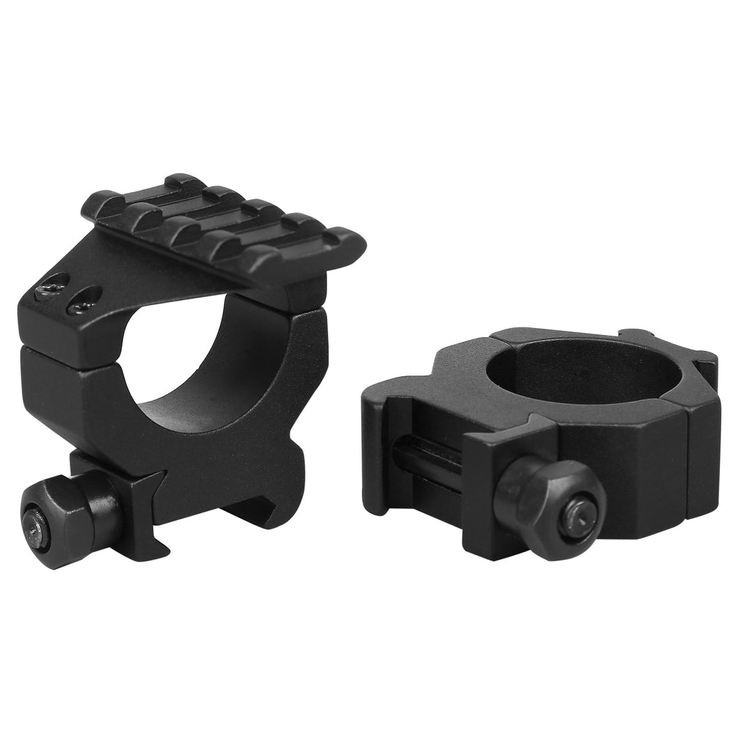 CCOP USA 30mm Picatinny-Style Tactical Scope Rings with Top Rail Matte (4 Screws)