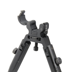"CCOP USA 11"" to 14"" Folding Barrel Clamp Mount Bipod with Adjustable Legs"