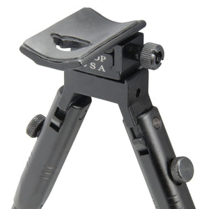 "CCOP USA 11"" to 14"" Folding Picatinny Mount Bipod with Adjustable Legs"