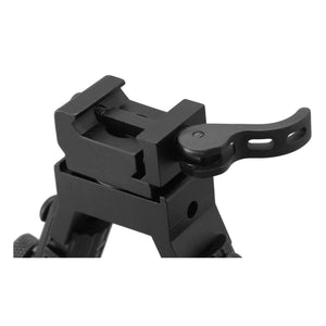 CCOP USA Folding Picatinny QD Mount Bipod with Swivel Stud Adapter (Quick Detach)