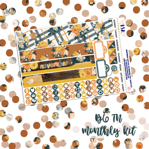 November #2 // SMC B6 TN Monthly Sticker Kit