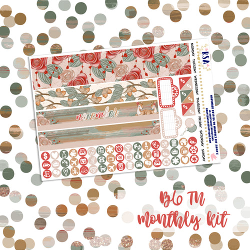 November #1 // SMC B6 TN Monthly Sticker Kit
