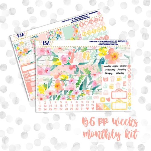 June // B6 PP WEEKS Monthly Sticker Kit