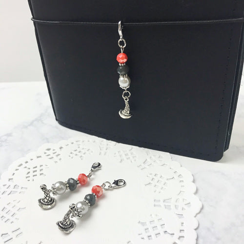Halloween Witch Hat Crystal Charm