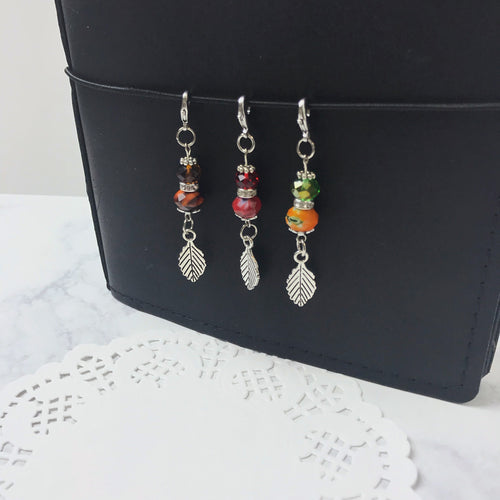 Fall Leaves Crystal Charm