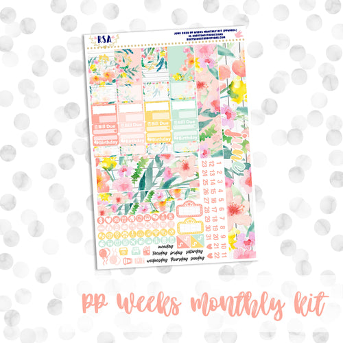 June // PP WEEKS Monthly Sticker Kit