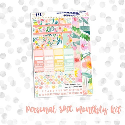 June // SMC Personal Monthly Sticker Kit