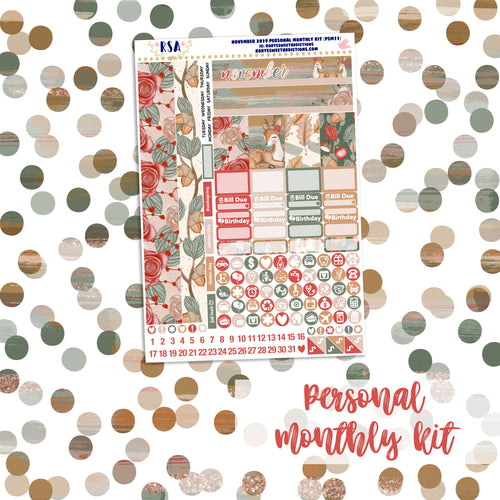 November #1 // SMC Personal Monthly Sticker Kit