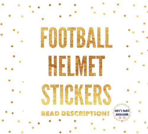 Football Helmet Stickers  {Please Read Description}